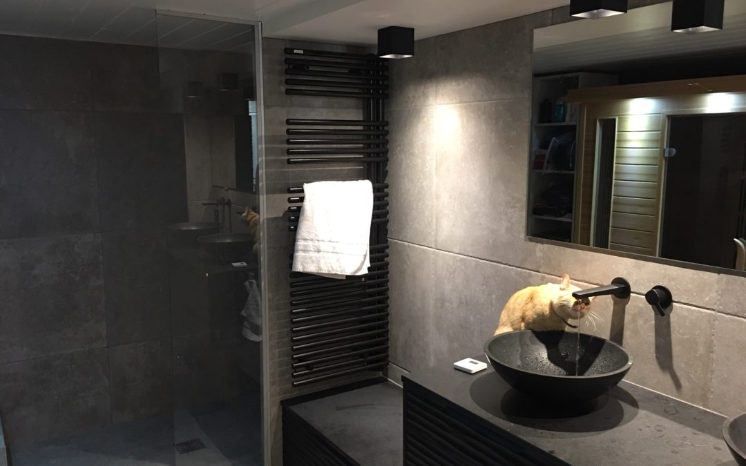 La même salle de bain après les travaux