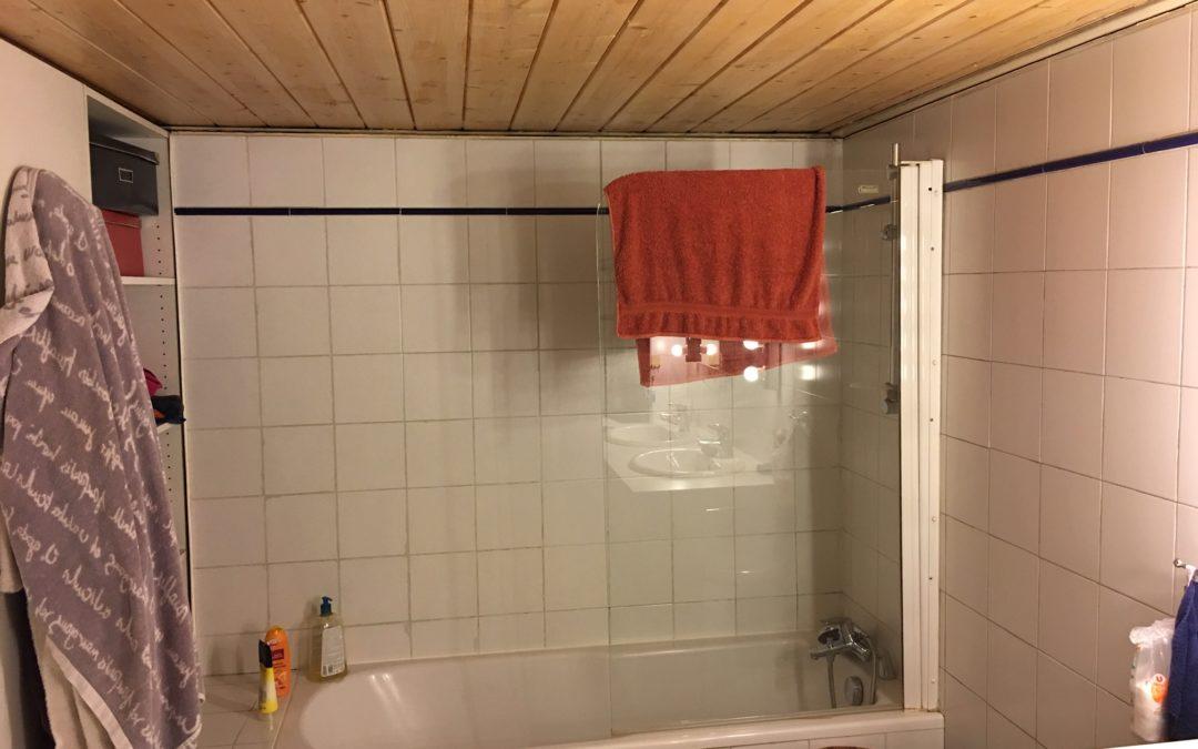 La salle de bain d'un particulier avant les travaux